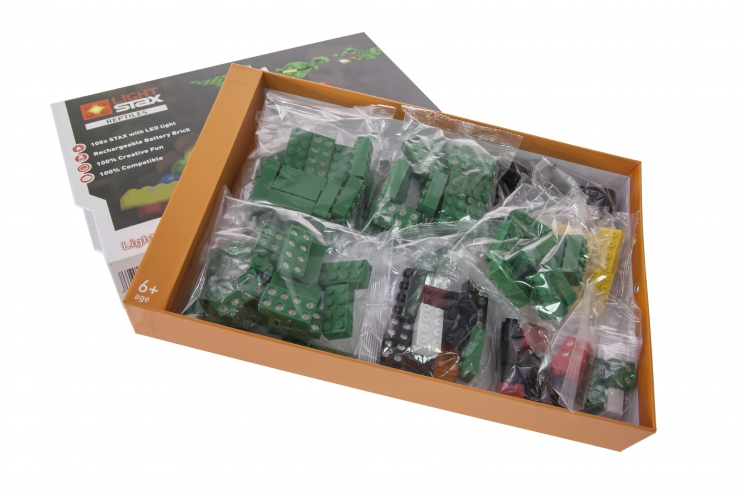 LIGHT STAX Конструктор с LED подсветкой Reptiles LS-S13001