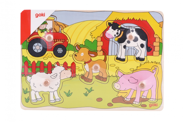 goki Пазл-вкладыш Ферма