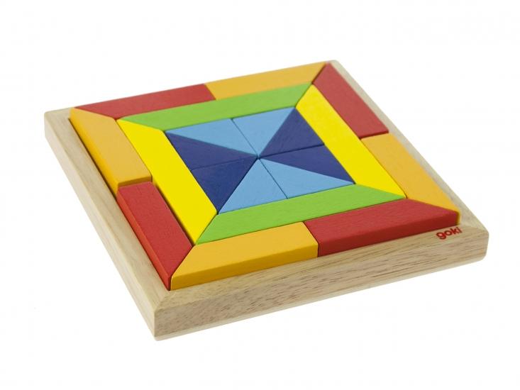 goki Деревянный пазл Мир форм - квадрат