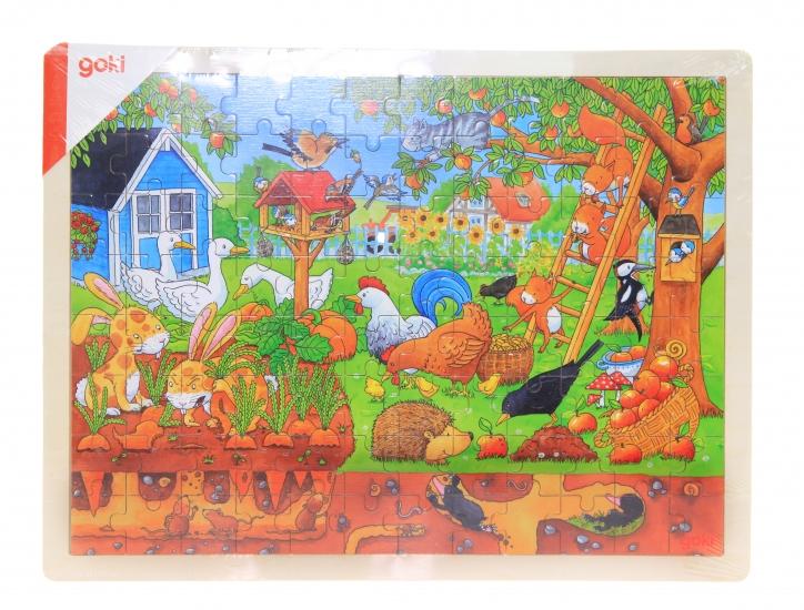 goki Деревянный пазл Наш сад - над и под землей