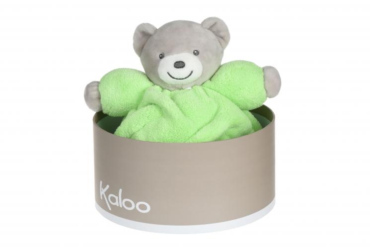 Kaloo Neon Мишка салатовый (18.5 см) в коробке