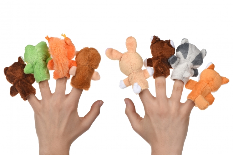 goki Набор кукол  для пальчикового театра - Енот