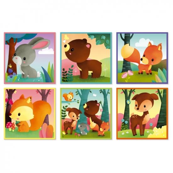 Janod Кубики - Лесные животные (9 эл.)