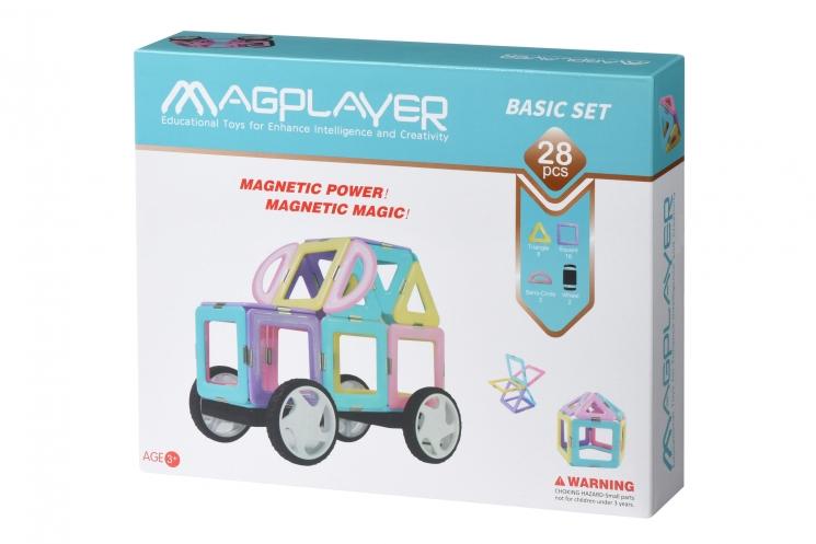 MagPlayer Конструктор магнитный набор 28 эл. (MPH2-28)