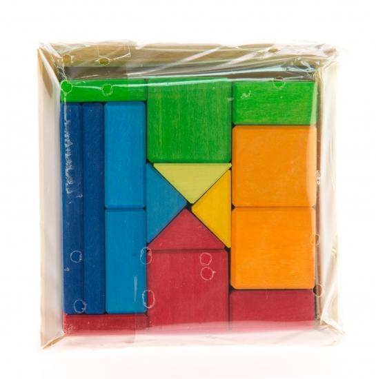 nic Конструктор деревянный - Разноцветный квадрат