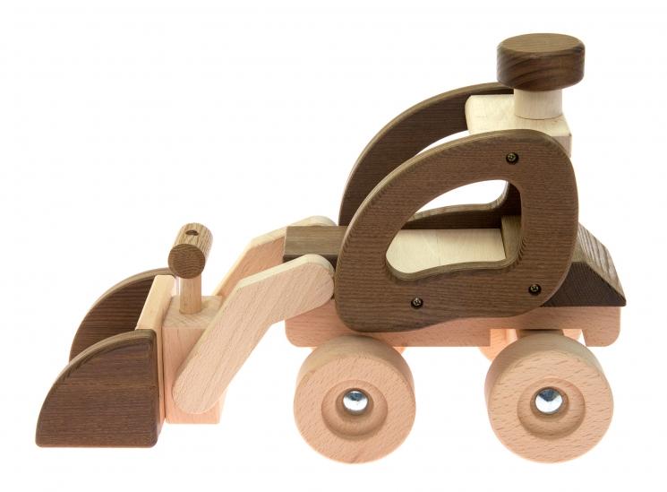 goki Машинка деревянная Экскаватор (натуральный)