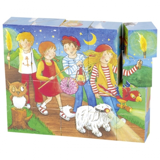 goki Кубики деревянные Peggy Diggledey