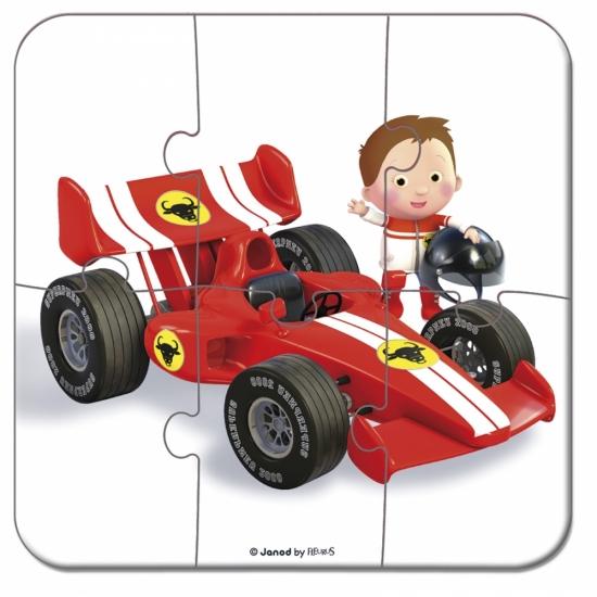 Janod Набор из 4 пазлов Автомобиль Габина Формула 1