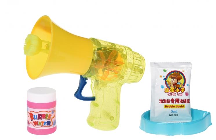 Same Toy Мыльные пузыри Bubble Gun Рупор со светом (желтый)