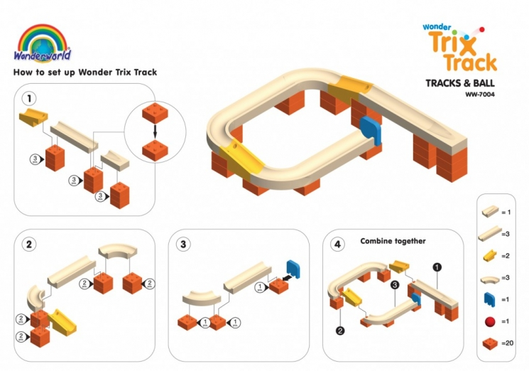 Wonderworld Конструктор Trix Track Поворот