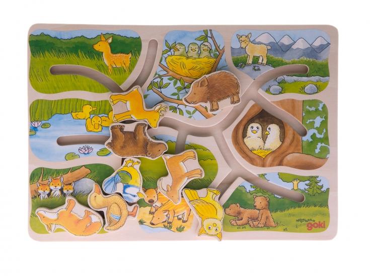 goki Пазл-головоломка Животные
