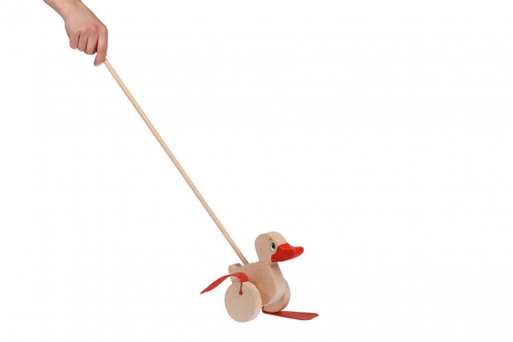 goki Игрушка-толкатель Уточка