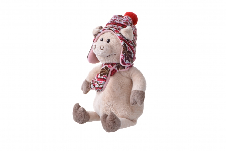 Same Toy Свинка в шапке (30 см)