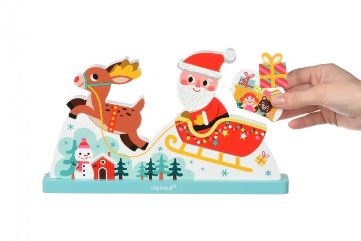 Janod Пазл вертикальный - Сани Санта Клауса