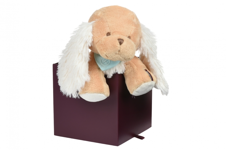 Kaloo Les Amis Щенок карамель (25 см) в коробке