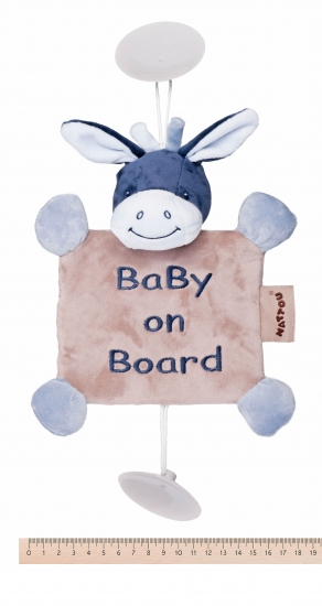 Nattou Ребенок на борту на присосках ослик Алекс