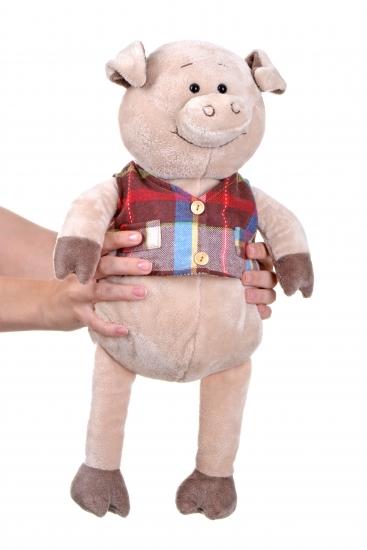 Same Toy Свинка в жилетке (45 см)