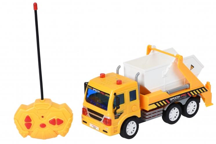 Same Toy Машинка на р/у CITY Грузовик с контейнером (желтый)