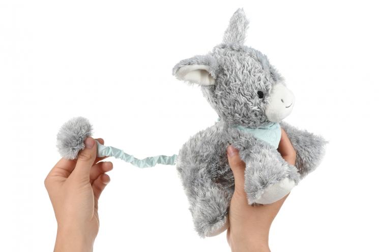 Kaloo музыкальная игрушка Les Amis Ослик серый (25 см) в коробке