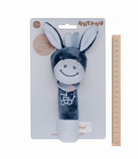 Nattou Погремушка шуршащая ослик Алекс