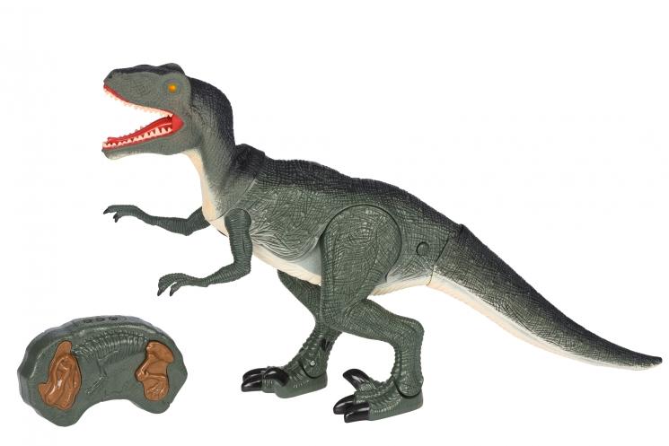 Same Toy Динозавр зеленый со светом и звуком (Велоцираптор)