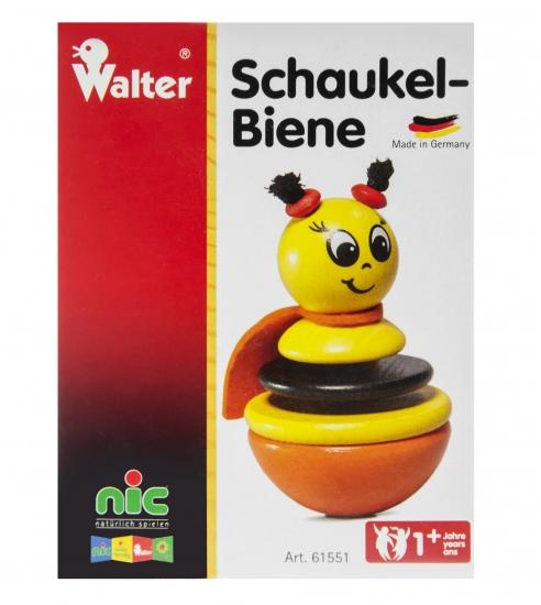 nic Игрушка-неваляшка деревянная Пчелка