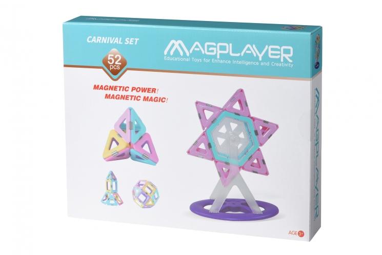 MagPlayer Конструктор магнитный набор 52 эл. (MPH2-52)
