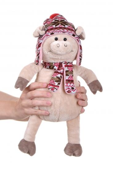 Same Toy Свинка в шапке (38 см)