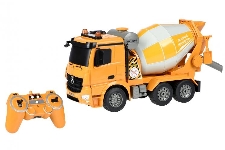 Same Toy Машинка на р/у Бетономешалка (желтая) Mercedes-Benz 1:20