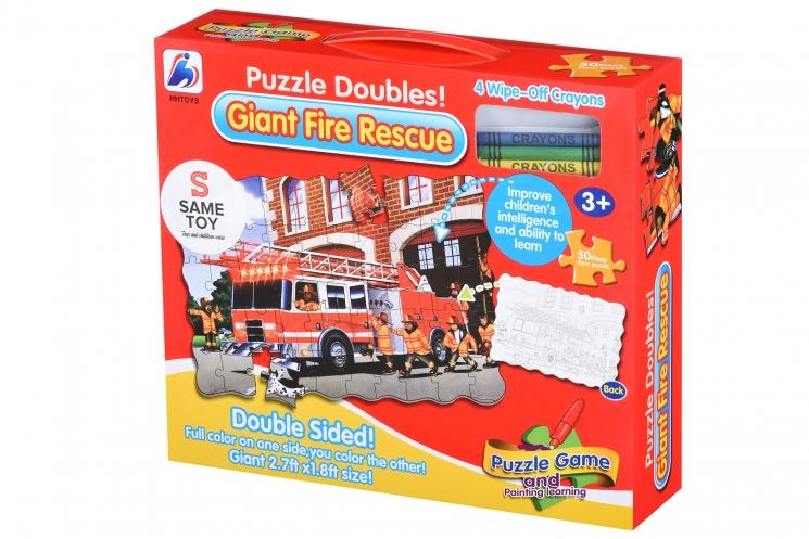 Same Toy Пазл-раскраска Пожарная машина