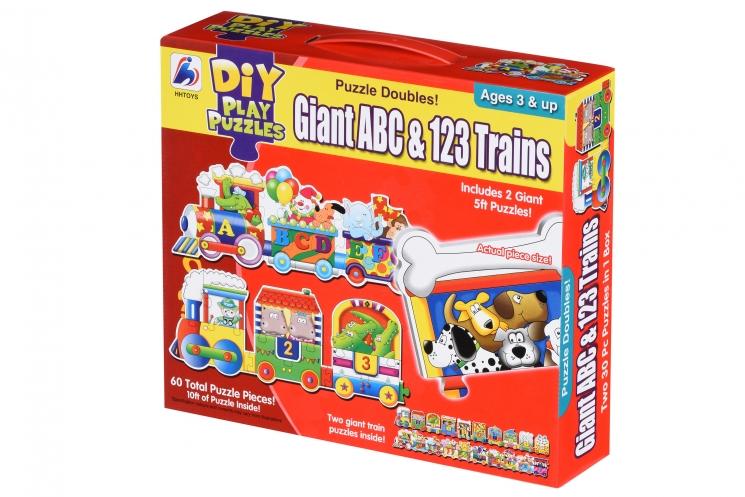 Same Toy Пазл Большой поезд Букв и Цифр