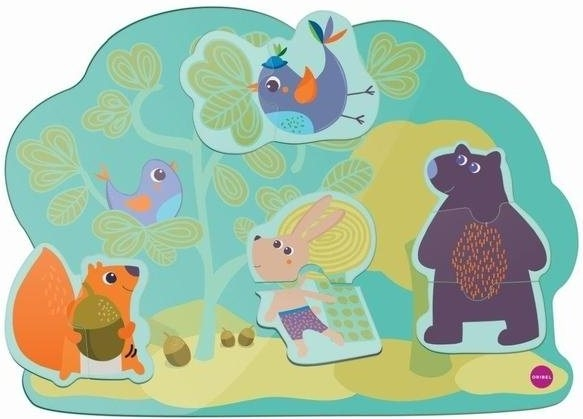 Oribel Настенная игрушка Veritiplay Веселый кролик и его друзья