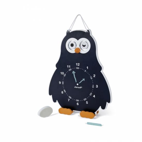 Janod Развивающая игрушка Часы двусторонние Сова