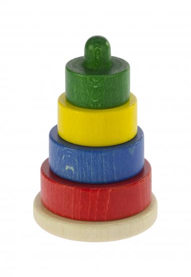 nic Пирамидка деревянная этажная разноцветная