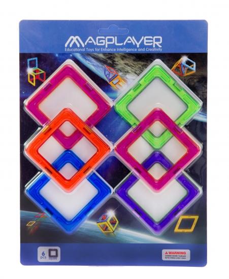 MagPlayer Конструктор магнитный - Дополнительный набор 6 ед. (MPC-6)