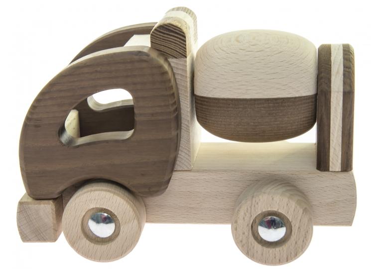 goki Машинка деревянная Бетономешалка (натуральная)