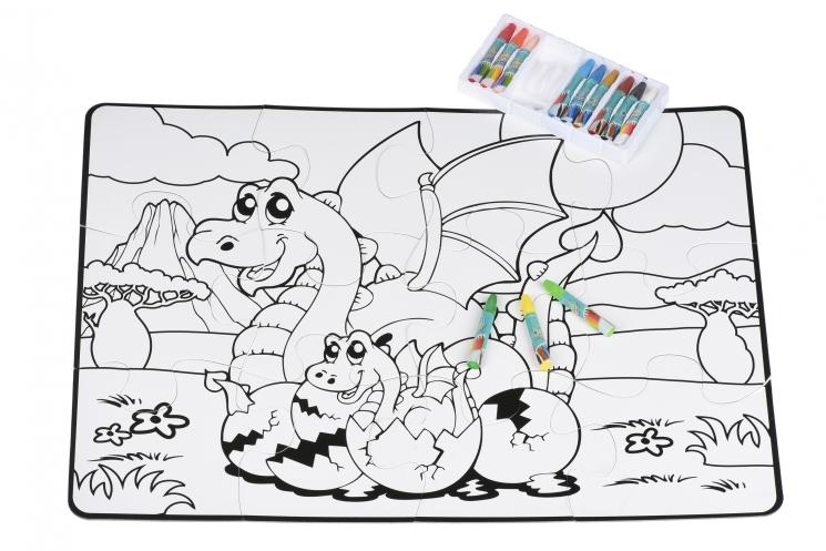 Same Toy Пазл-раскраска Семья драконов