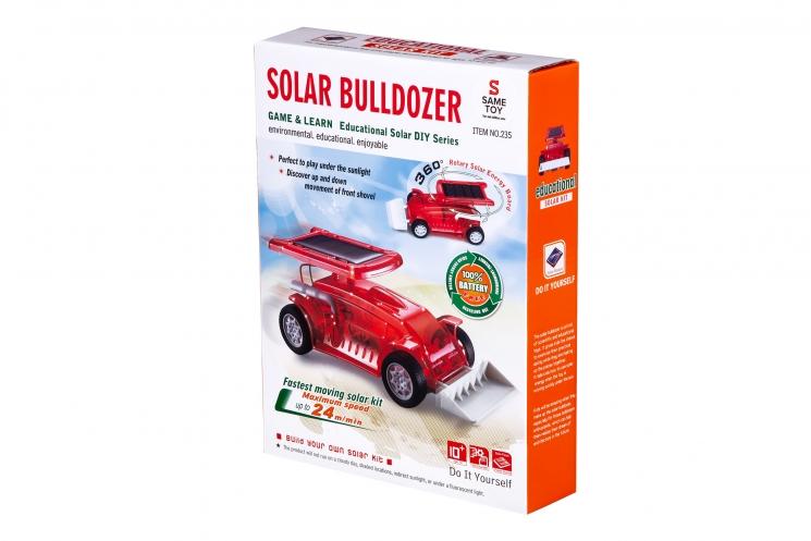 Same Toy Робот-конструктор - Бульдозер на солнечной батарее