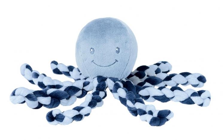 Nattou Мягкая игрушка Lapiduo Octopus (синий)