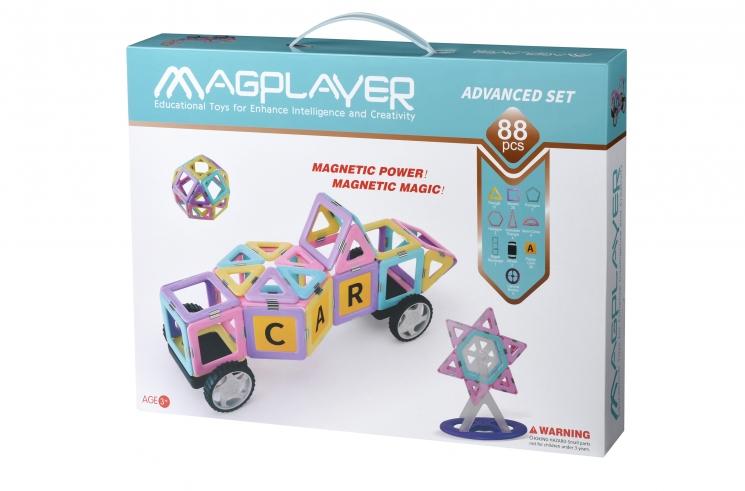 MagPlayer Конструктор магнитный набор 88 эл. (MPH2-88)