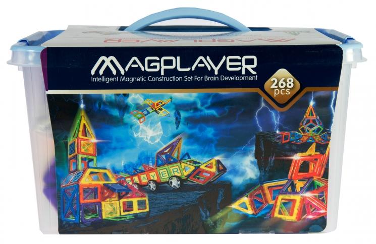MagPlayer Конструктор магнитный 268 ед. (MPT-268)