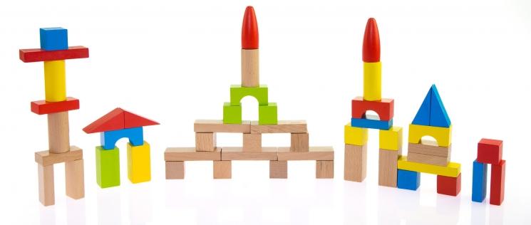 goki Конструктор деревянный Базовый маленький