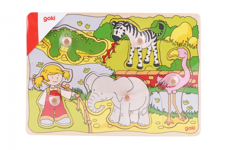 goki Пазл-вкладыш Зоопарк