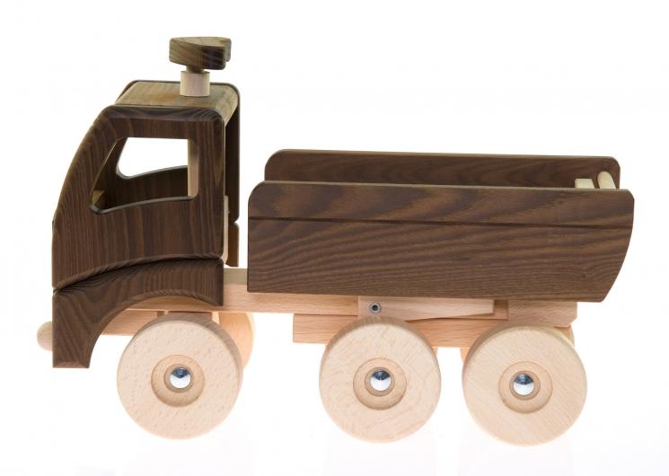 goki Машинка деревянная Самосвал (натуральный)