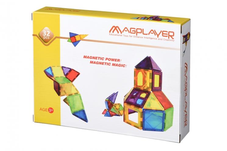 MagPlayer Конструктор магнитные плитки 32 эл. (MPL-32)