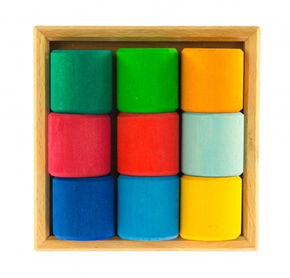 nic Конструктор деревянный - Разноцветный ролик