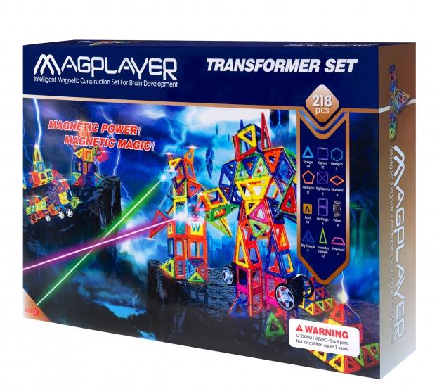 MagPlayer Конструктор магнитный 218 ед. (MPA-218)