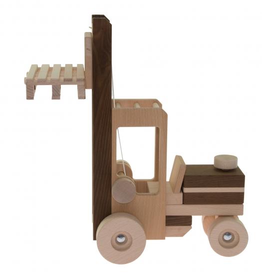 goki Машинка деревянная Автопогрузчик (натуральный)