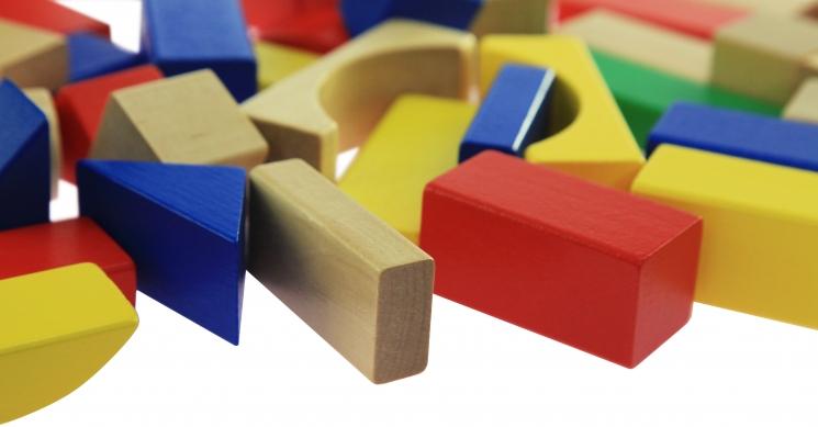 goki Конструктор деревянный Строительные блоки (цветные)