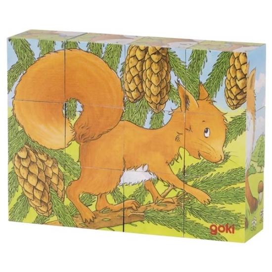 goki Кубики деревянные - Животные в лесу